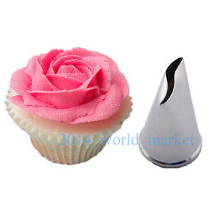 New Fashion Rose Flower Icing Piping Nozzles Cake ...