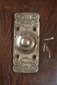 Edwardian Stile Ottone Anteriore CAMPANELLO PULSANTE BELL Pusher porta campana Z2