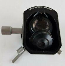Leitz Wetzlar Microscope Flipswing Out Top Condenser