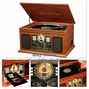 Image Is Loading Retro Vintage Radio CD Cassette MP3 Record Player