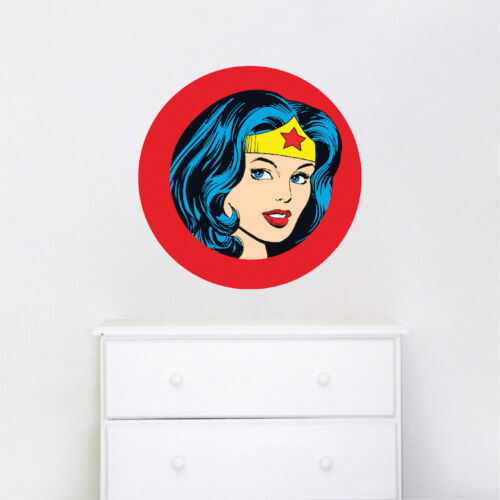 e18 Wonder Woman Face Wall Decal DC Comic Decals Justice League Crown Wall