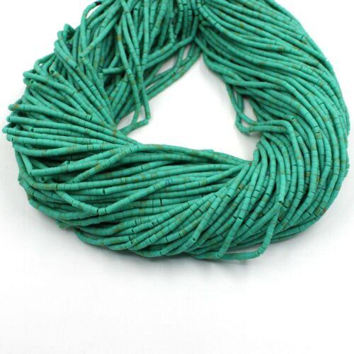 Green Turquoise Heishi Tyre Wheel Seed Tribal Afghani Bead Strand Beads 2mm AAA