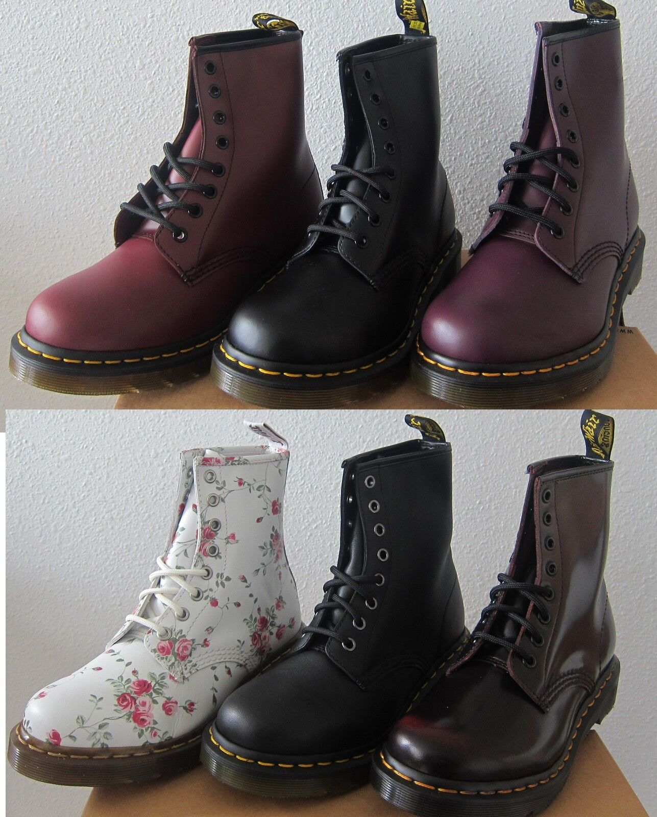 NEW  Women's DOC Dr. Martens 1460 Originals 8 Eye Lace Up Boots -Assorted colors