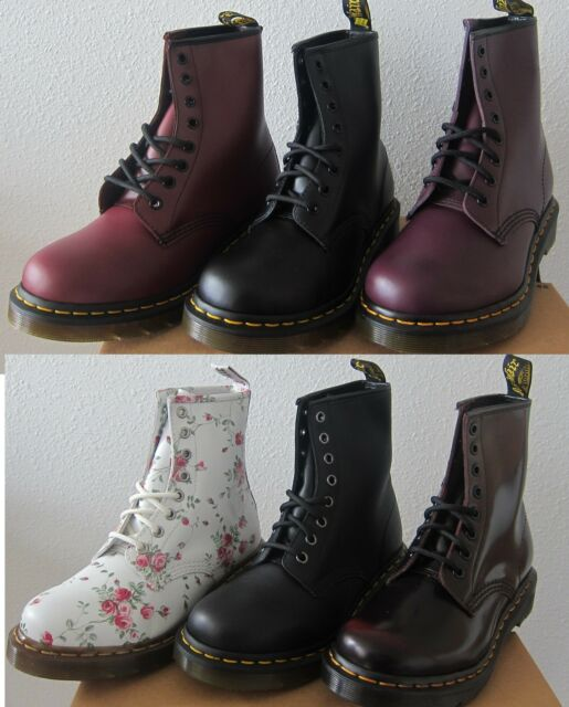 NEW! Women's DOC Dr. Martens 1460 Originals 8 Eye Lace Up Boots -Assorted Colors