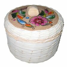 Tortillero Insulated Tortilla Bread Warmer Woven Palm W/Colorful Painting New