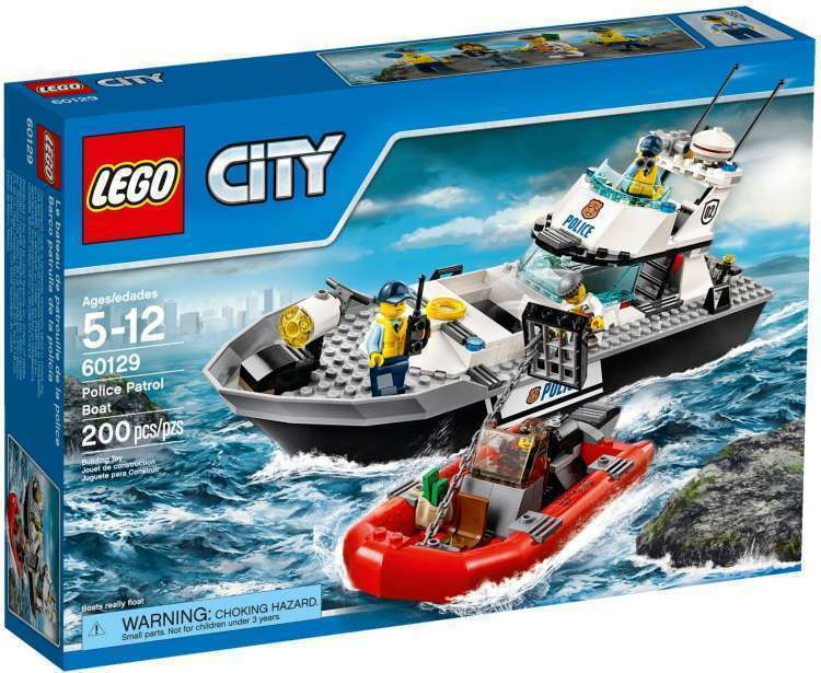 60129 POLICE PATROL BOAT lego NEW town CITY legos set police SEALED retired