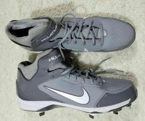 555435d4c NEW Nike (467796-002) Air Huarache Grey   White Baseball Cleats ...