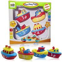 4 Magnet Boat Bath Tub Toy Set For Boy Girl Toddler Kid Fun Educational Gift
