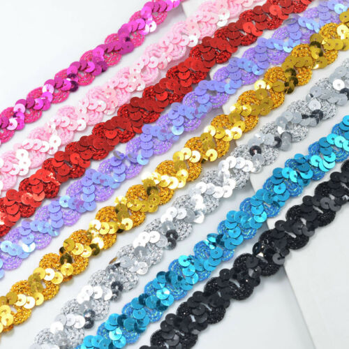Bling Paillette Lace Trims Sequins Lace Trims for Clothing DIY Sewing Crafts