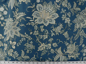Drapery Upholstery Fabric Contemporary Floral On 100 Cotton Duck