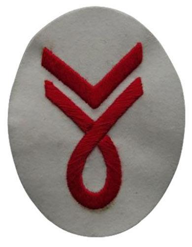 Kriegsmarine Musician Senior Specialist Trade Badge WW2 Repro Patch White New