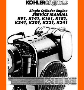 kohler engine k series k361 k91 141 k161 k181 k241 k301 k321 k341 rh ebay com kohler k301 service manual pdf kohler k301 service manual pdf
