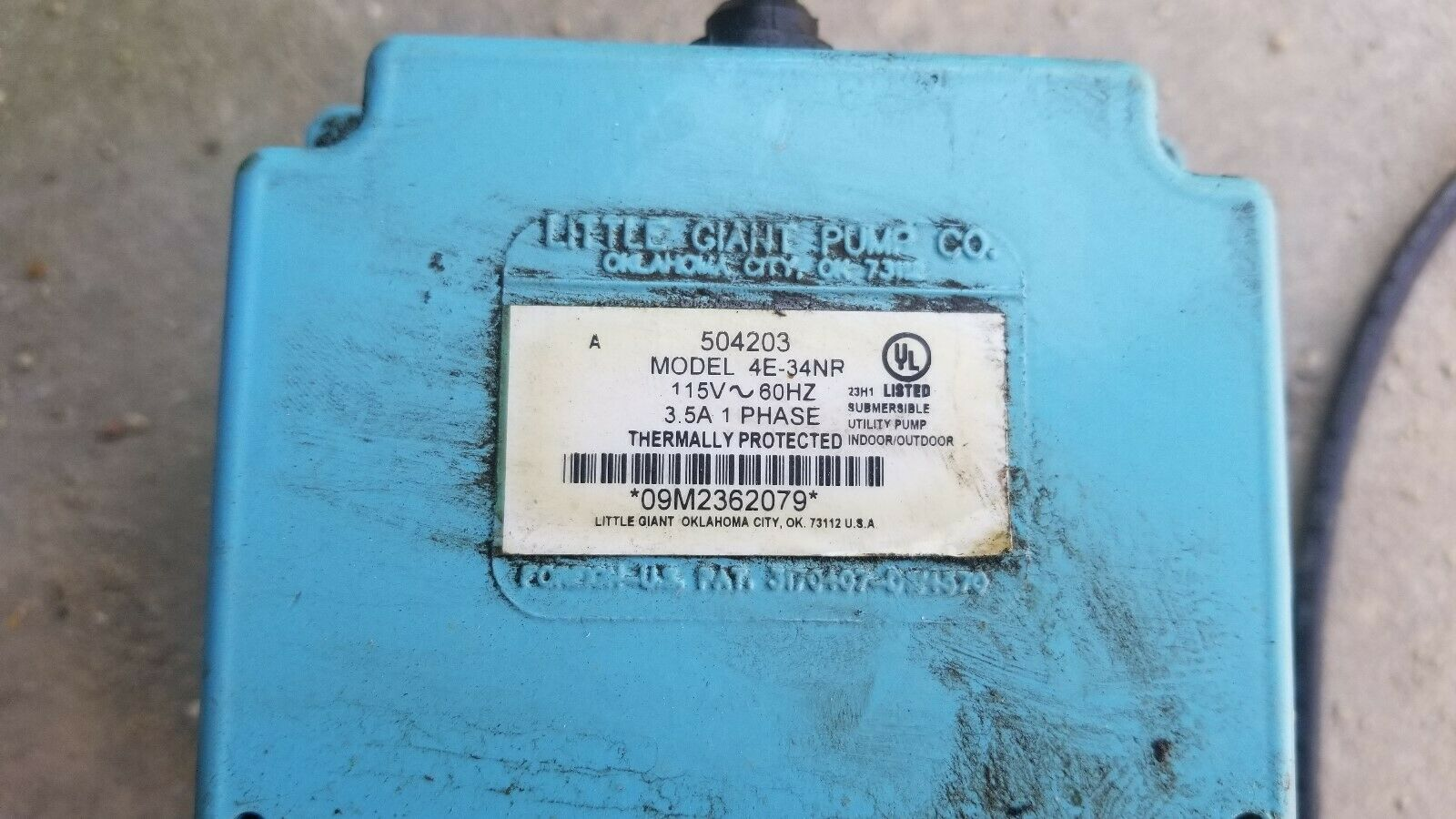 Little Giant Small Submersible Pump 504203-4E-34NR