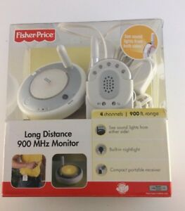 Image Is Loading FISHER PRICE LONG DISTANCE 900 MHz Baby MONITOR