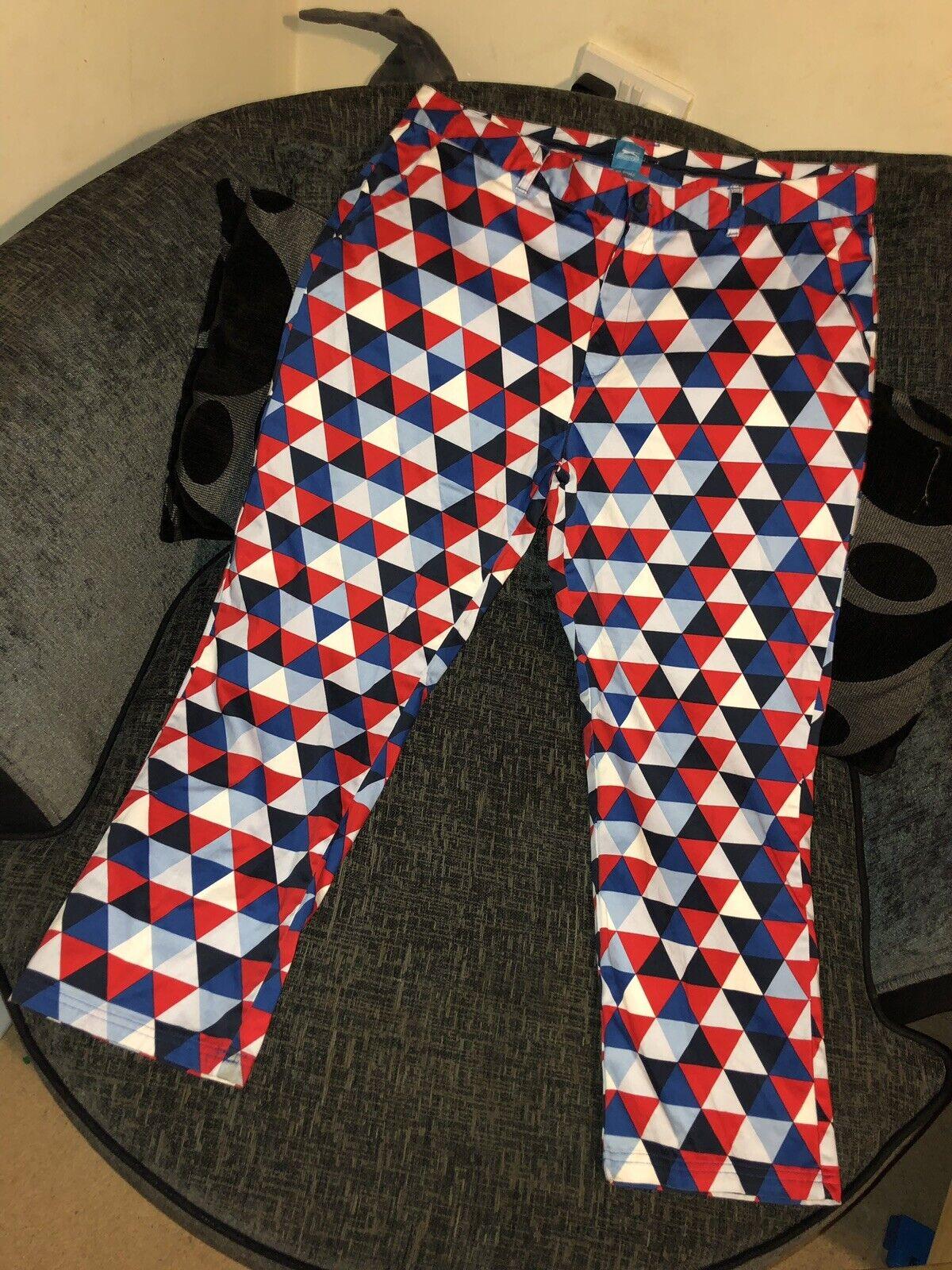 38w Slazenger Trousers Rare Pattern Funky Artist Chef Type Eccentric