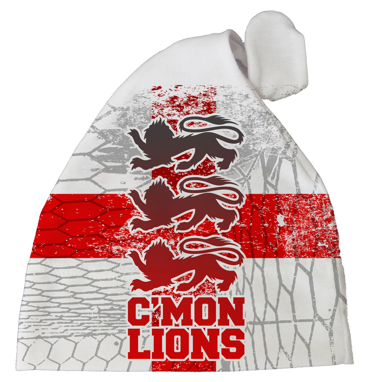 "England Football Baby Hat /""C/'mon Lions/"" Baby Subli Print Hat Fan Team Gift"
