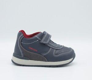 7af280432682 GEOX chaussures de bébé Primi Mesures Richon B840RB cuir bleu foncé ...