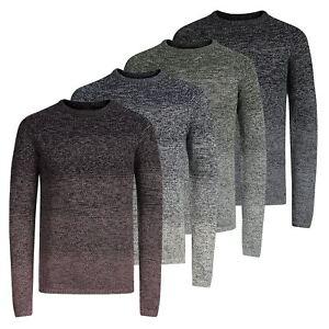 JACK-amp-JONES-CARBURANTE-Maglione-da-Uomo-Lavorato-a-Maglia-Girocollo-Pullover-sweater