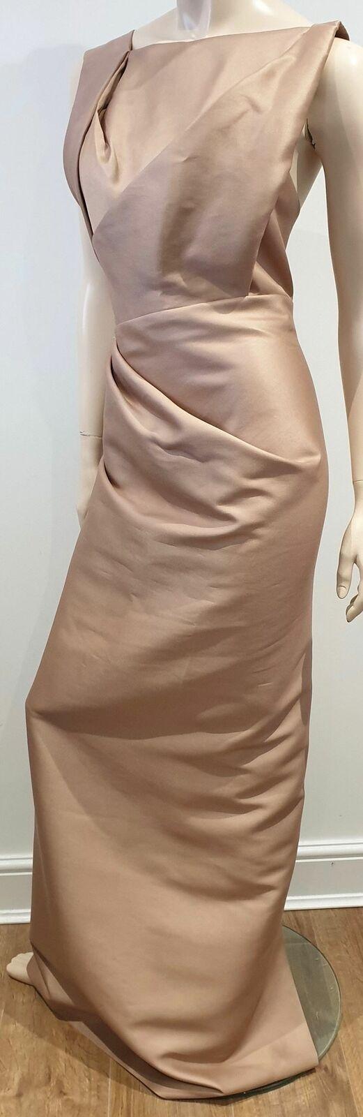 DSQUARED2 Alt Plissiert Lang Länge Abend Bleistift Maxi Kleid 42 UK10