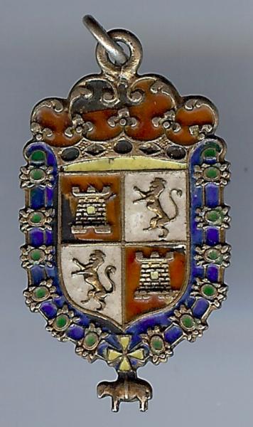 2019 Mode Antik Sterling Silber Emaille Wappen Kastilien Und Löwe Anhänger