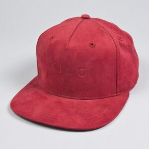 87174d871 Details about KING Apparel Rokeby Pinch Panel Snapback Cap - Oxblood Suede