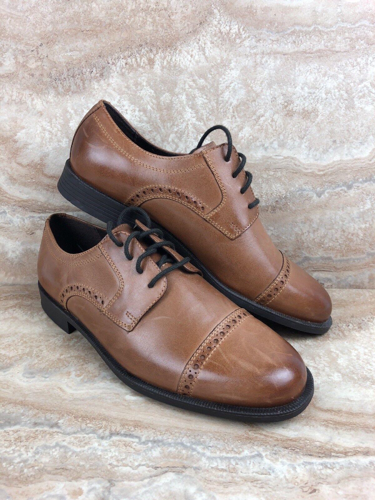de5782c9e7cd13 ... Cole Haan Size 8.5 8.5 8.5 M Dustin Cap Brogue Oxford Tan Leather Dress  shoes f4f3ac ...