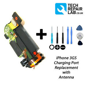NEW-Replacement-Charging-Dock-Port-Assembly-inc-Antenna-w-Tools-FOR-iPhone-3GS