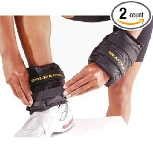 5 LBS Adjustable Ankle Weights Wrist Arm Leg Exercises  2 X 2.5 LBS Golds Gym