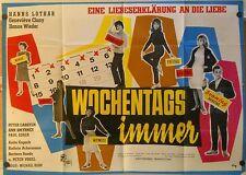 WOCHENTAGS IMMER (A0-Pl. '63) - HANNS LOTHAR / GENEVIEVE CLUNY / HANNE WIEDER