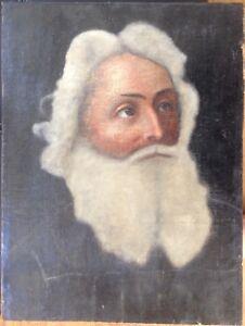 PORTRAIT-BIEDERMEIER-BAROCK-MANN-MIT-BART-UM-1800-ANTIK-BILDNIS-ALTMEISTER-OL