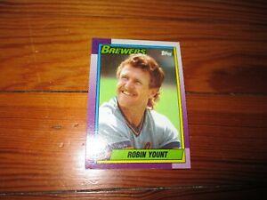 1990-Robin-Yount-Topps-Baseball-Card-Milwaukee-Brewers-MLB-Hall-of-Fame-Member