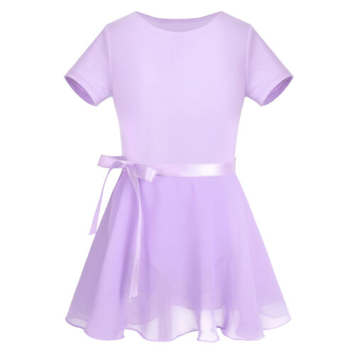 Girls Ballet Tutu Dress Gymnastics Leotard Skirt Child Bodysuit Dancing Clothes