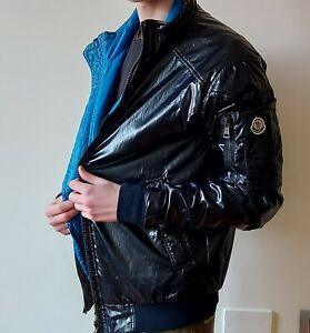 MONCLER-UOMO-giacca-cerata-traslucido-autunnale-foderata-taglia-5-moncler-L