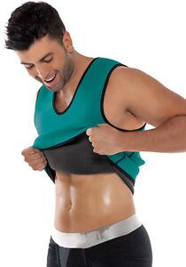 uk mens sauna sweat suit vest for weight loss fat burner gym workout