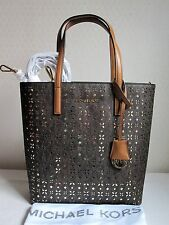 MICHAEL MICHAEL KORS Brown HAYLEY MEDIUM N/S TOP ZIP TOTE Bag Handbag Purse