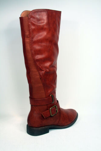 Fashion Low Heel Buckle Zipper Round Toe Knee High  Boot Shoes Size 6-10 NEW