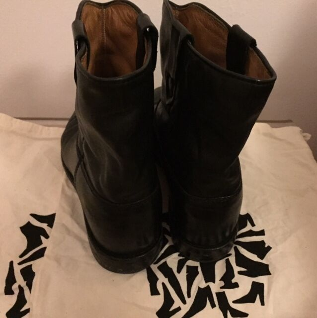 Isabel Marant Etoile 39 US 9 Black Black Black Leather CRISI Hidden Wedge Boots Booties f3e335
