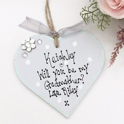 Godmother Godfather Personalised Gift Plaque You Choose The Words
