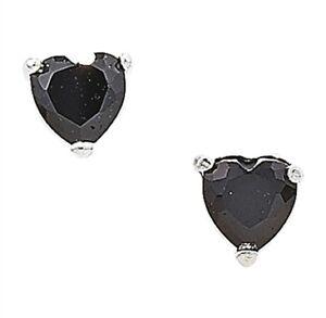 4mm-zircon-cubique-noir-forme-coeur-boucles-d-039-oreilles-clous-argent-massif