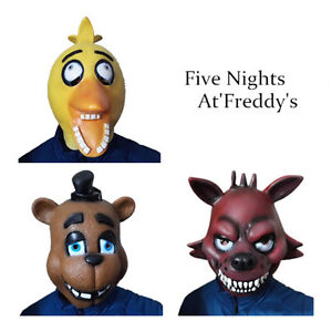 Fnaf halloween costume five nights at freddy s chica foxy fazbear mask