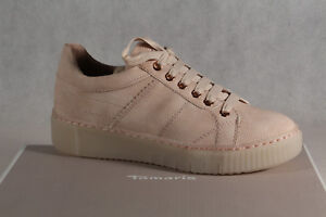 Details about Tamaris Lace up Sneakers Low Shoes Rose New