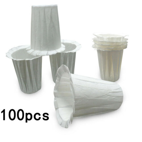 100pcs Coffee Disposable Paper Filters K-Cup Replacement For Keurig 2.0-Large