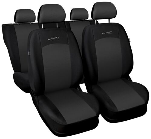 Sitzbezüge Sitzbezug Schonbezüge für Kia Rio Dunkelgrau Sportline Komplettset