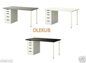 Ikea Linnmon Alex Table Different Colors Ebay