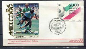 S13558-Mexico-4-6-1986-FDC-Fifa-Wc-Football-Germany-Uruguay