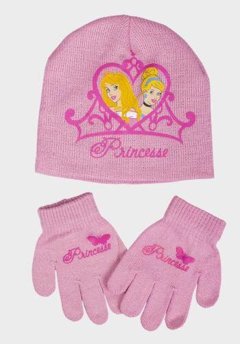 Official Girls Disney Princess Hat Gloves Set Snow White Belle BNWT Free P/&P