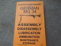 Ww2 German Mg 34 Machine Gun Manual 32 Pages