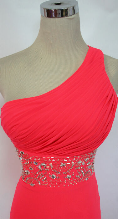 NWT BLONDIE NITES  190 190 190 Neon Cerise Prom Party Gown 13 c97263