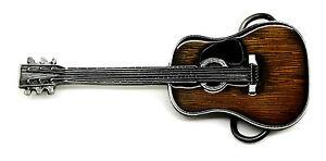 acoustic guitar belt buckle rock band music authentic dragon designs