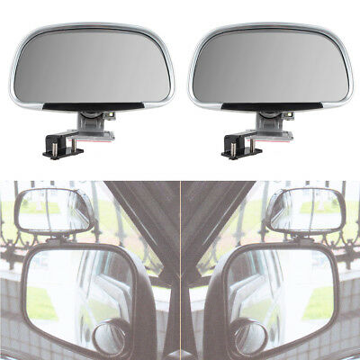 Car Auto 2Pcs Silver Row Rear View Improve Visual Range Blind Spot Mirrors New